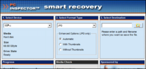 PC INSPECTOR smart recoveryのスクリーンショット