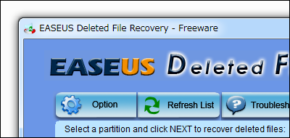 EASEUS Deleted File Recoveryのスクリーンショット