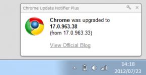 Chrome Update Notifier Plusのスクリーンショット