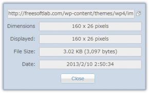 Image Size Infoのスクリーンショット