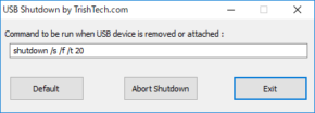 USB Shutdownのスクリーンショット