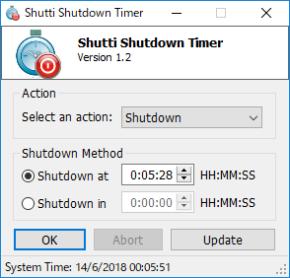 Shutti Shutdown Timerのスクリーンショット