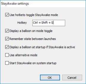 StayAwakeのスクリーンショット