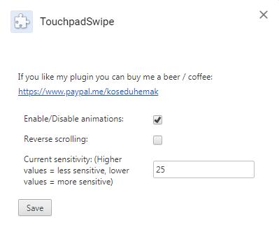 TouchpadSwipe のスクリーンショット