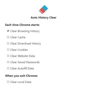 Auto History Clearのスクリーンショット