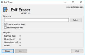 Free EXIF Eraserのスクリーンショット
