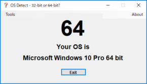 OS Detect - 32-bit or 64-bit?のスクリーンショット