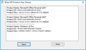 Wise Windows Key Finderのスクリーンショット