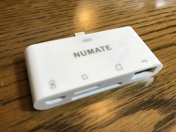 NUMATEのiPhone/iPad用USB付きSDカードリーダー(非純正品)レビュー!
