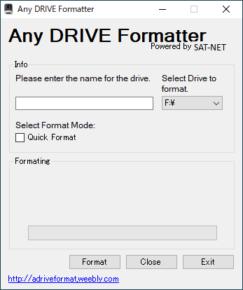 Any Drive Formatterのスクリーンショット