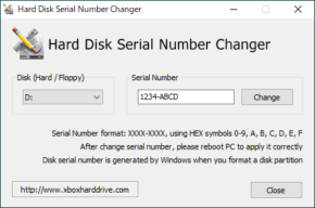 Hard Disk Serial Number Changerのスクリーンショット