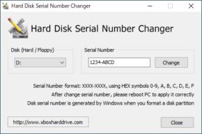 Hard Disk Serial Number Changerのスクリーンショット