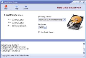 Hard Drive Eraserのスクリーンショット