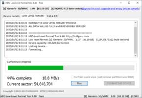 HDD Low Level Format Toolのスクリーンショット